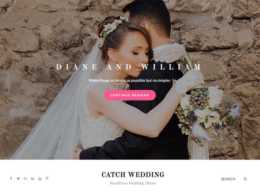 Catch Wedding - WordPress Wedding Theme Free