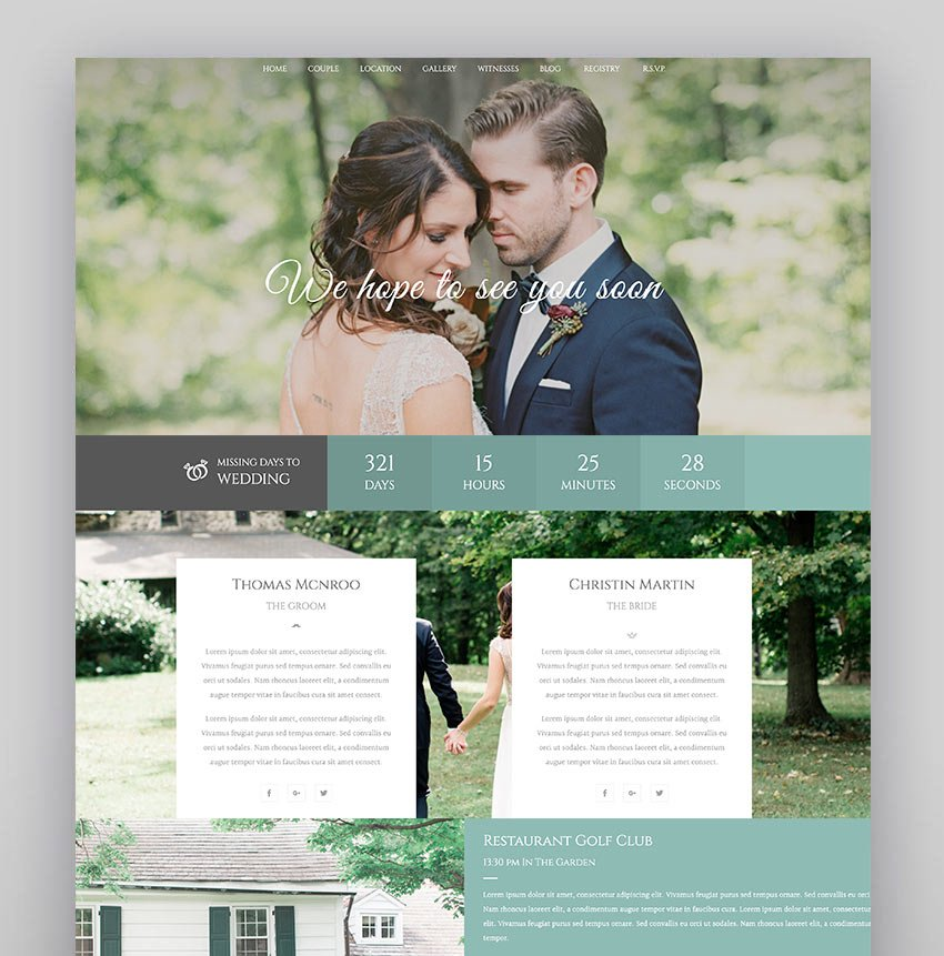 Wedding Industry - Wedding Premium WordPress Theme