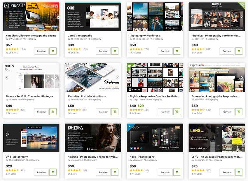 Get the best WordPress photo gallery themes from ThemeForest.