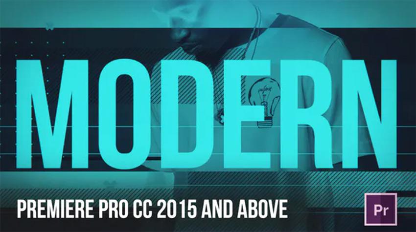 Modern Premiere Pro Opener Template
