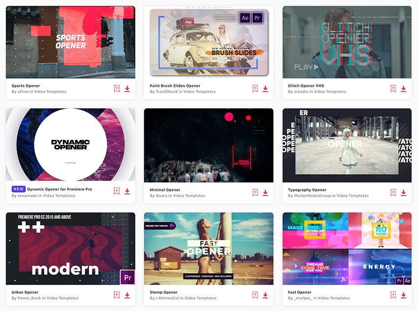 Get unlimited Premiere Pro opener templates from Envato Elements.