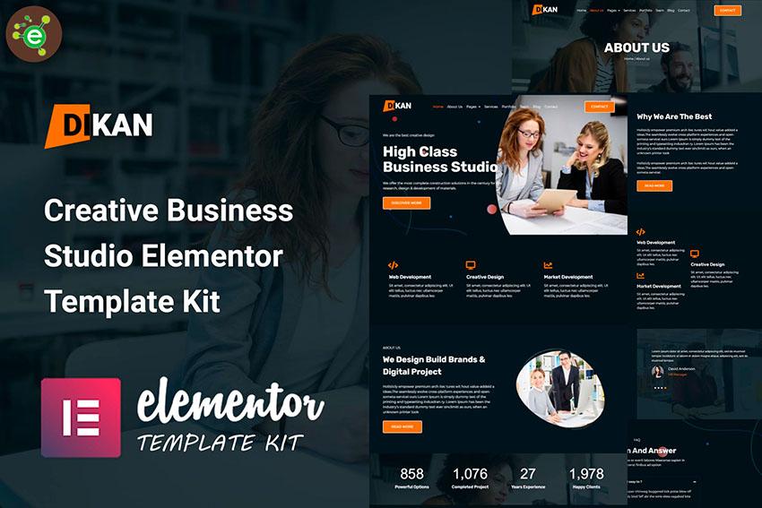 Dikan - Creative Business Studio Elementor Template Kit
