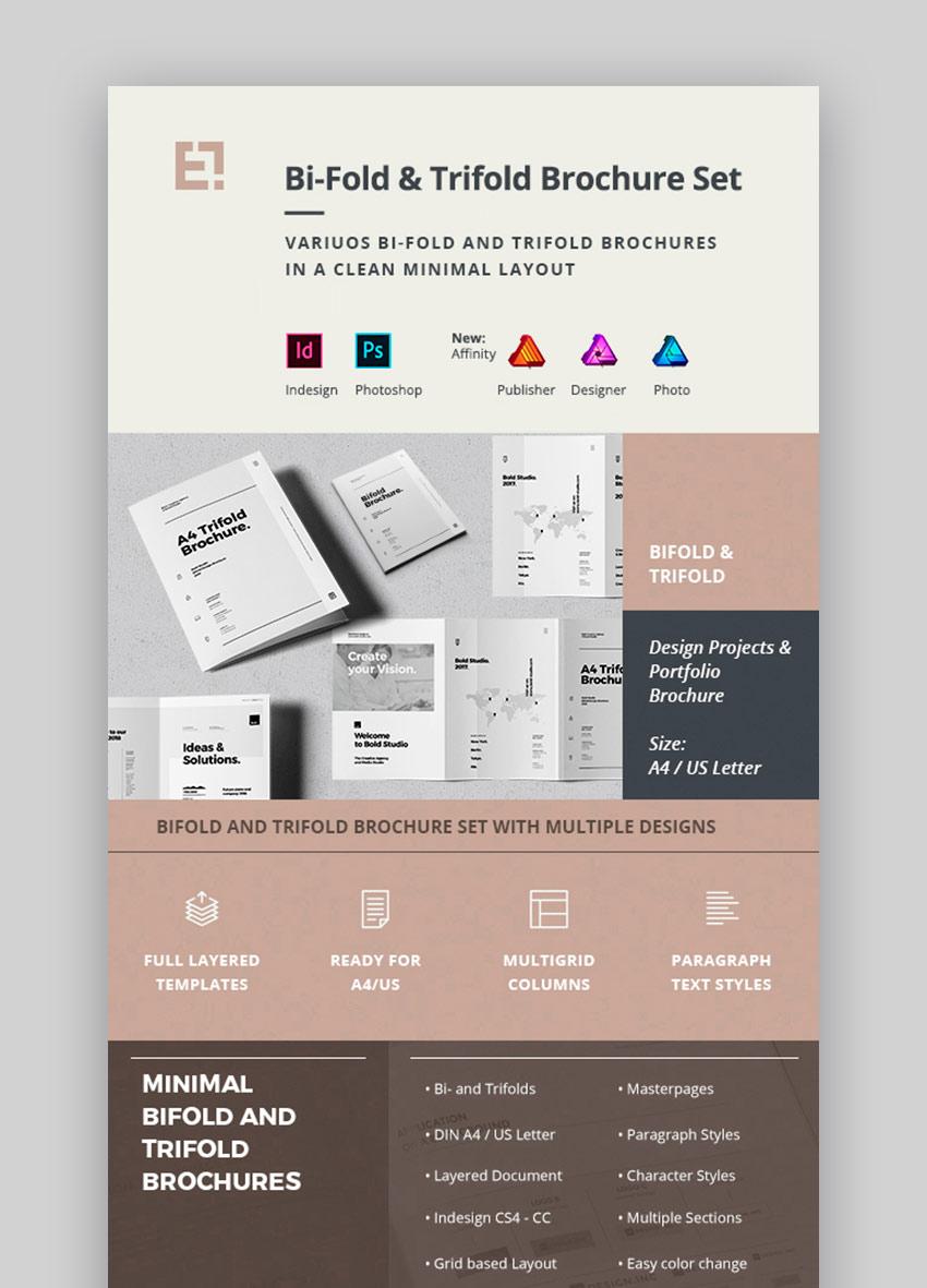 Affinity Publisher Brochure Templates Pack (INDD, AFPUB)