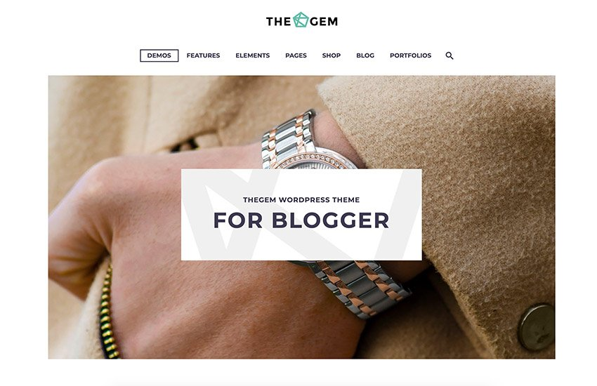 The Gem, one of our lightest WordPress themes from ThemeForest.