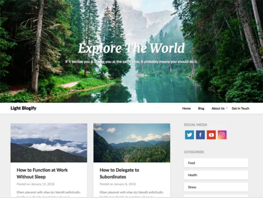 Light Blogify Super Fast WordPress Theme