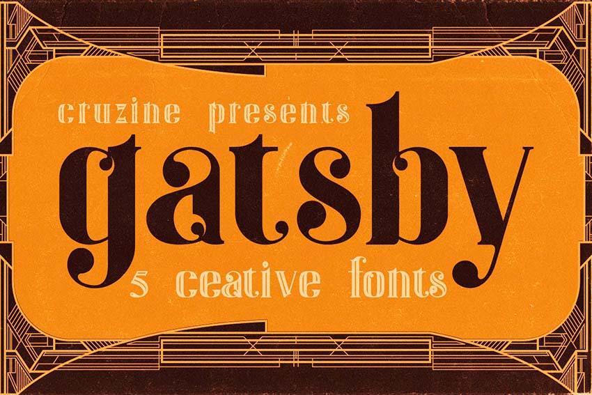 Gatsby Art Deco Font (OTF, TTF)