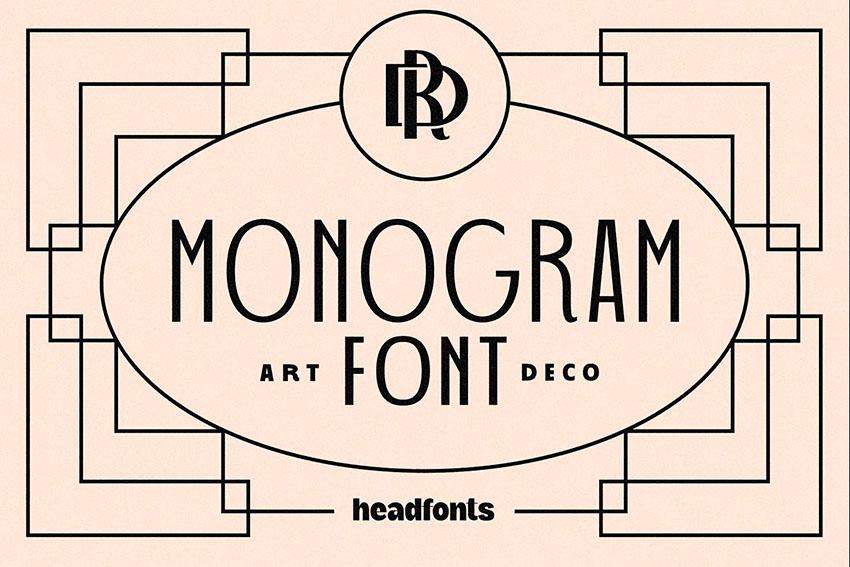 Monogram Art Deco Font (OTF, TTF)