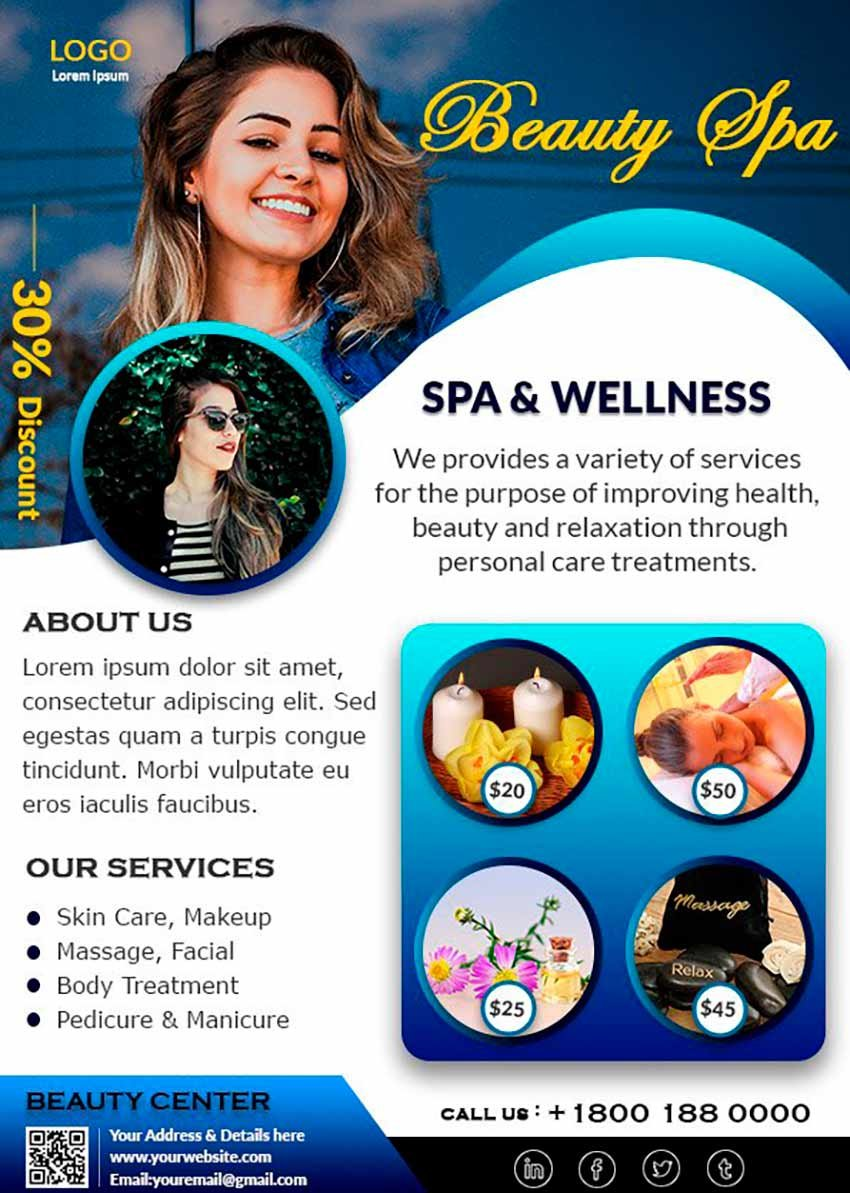 Natural Beauty Spa Flyer
