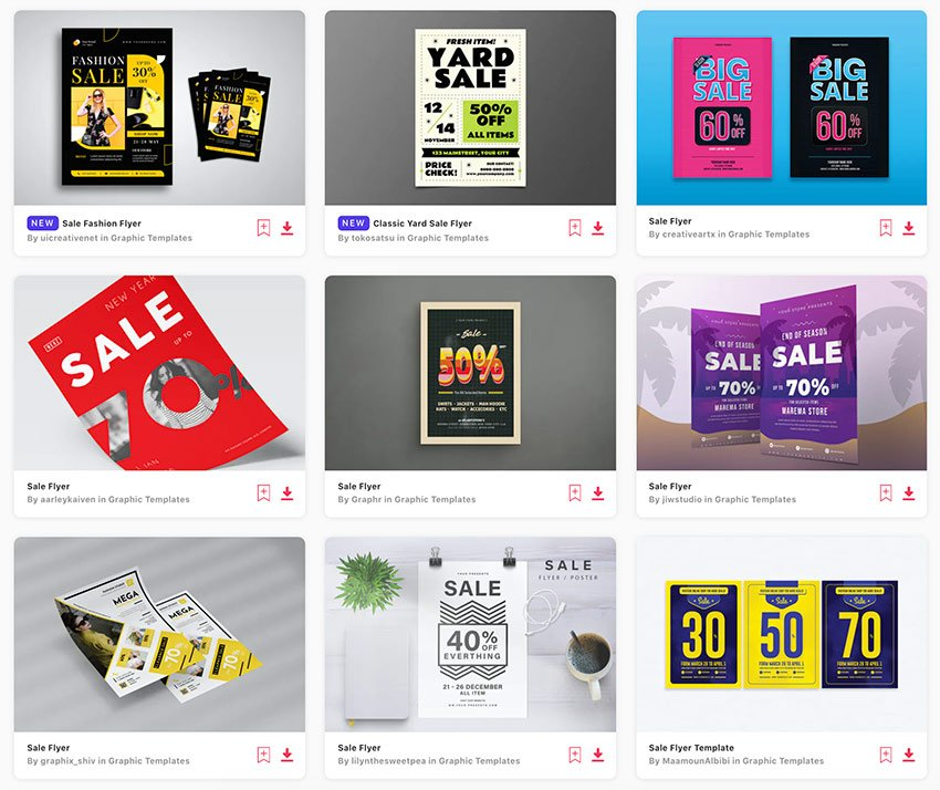 Envato Elements has over 3,000 amazing sales flyer templates to choose from.