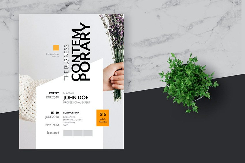 Creative Flyer Design Template (AI, EPS)