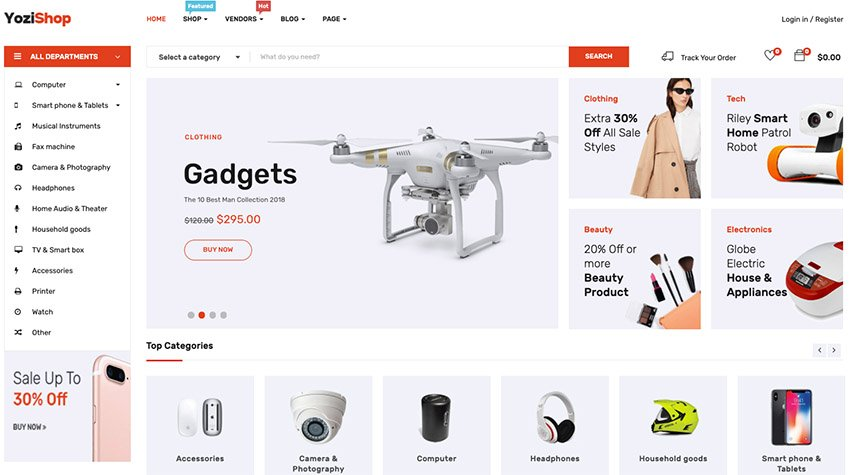 Yozi - Multipurpose WooCommerce WordPress Theme