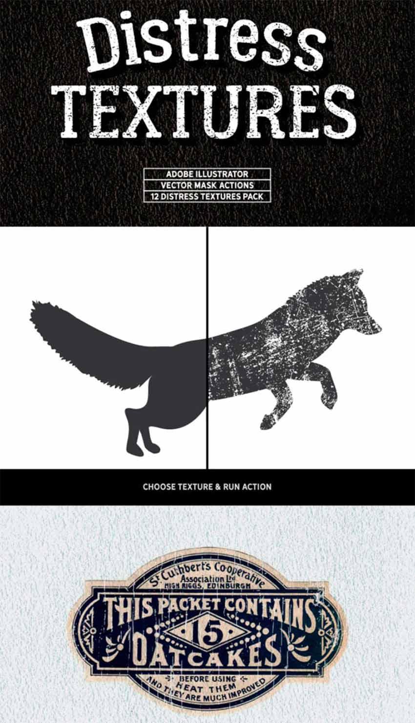 Distressed Texture Illustrator Pack (AI)
