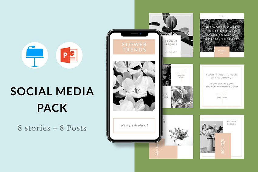 This social media PPT template is a great, easy-to-use kit.