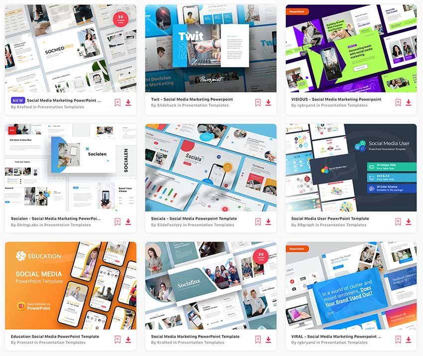 Use social media marketing PPT from Envato Elements to craft your next marketing campaign.