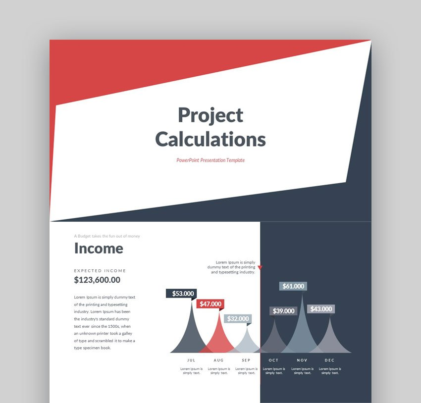 Project Calculation PowerPoint Presentation Template