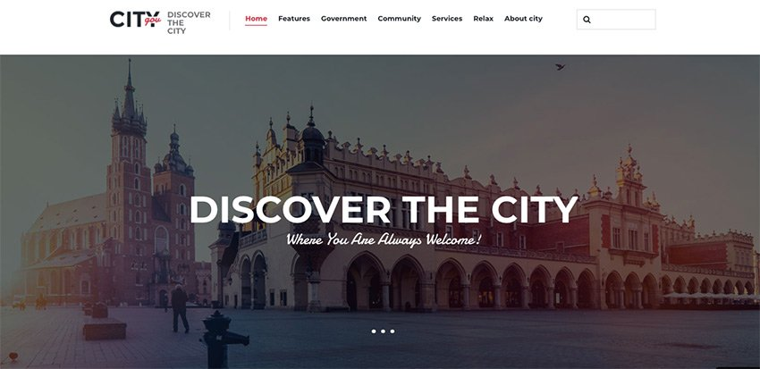 City Government & Municipal Portal Political WordPress Theme