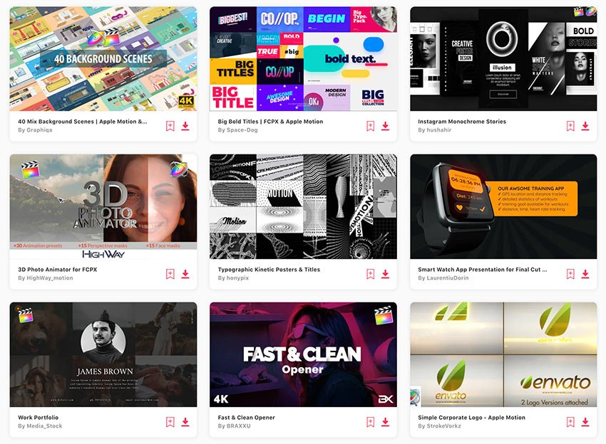 The best Apple Motion templates are available on Envato Elements.