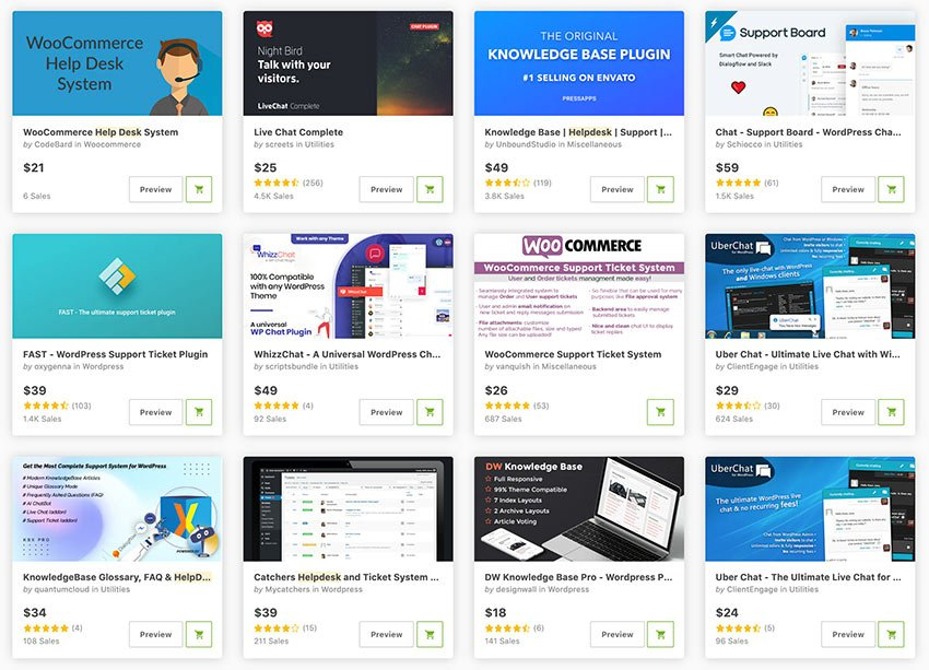 Get the best WordPress support plugins from CodeCanyon.