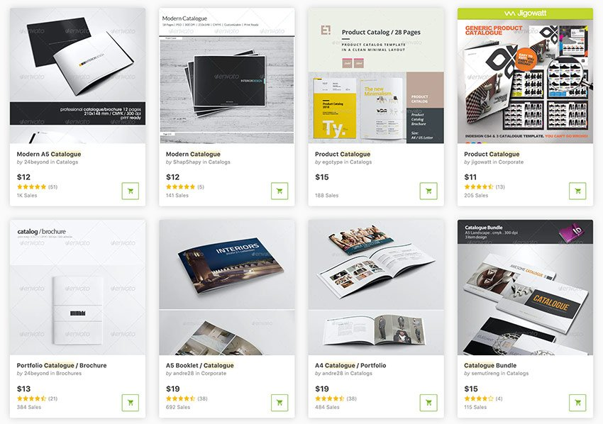 Check out the large collection of catalog design templates on GraphicRiver.