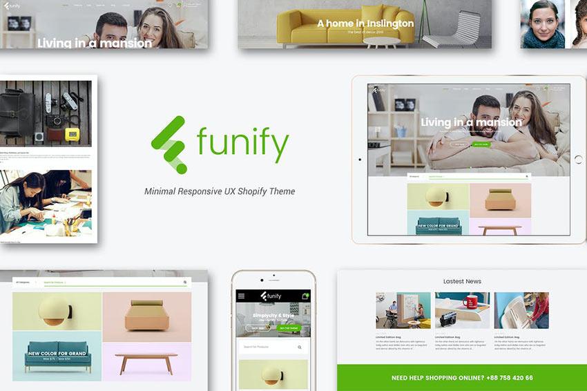 Funify - Minimal Responsive Furniture Shopify Theme