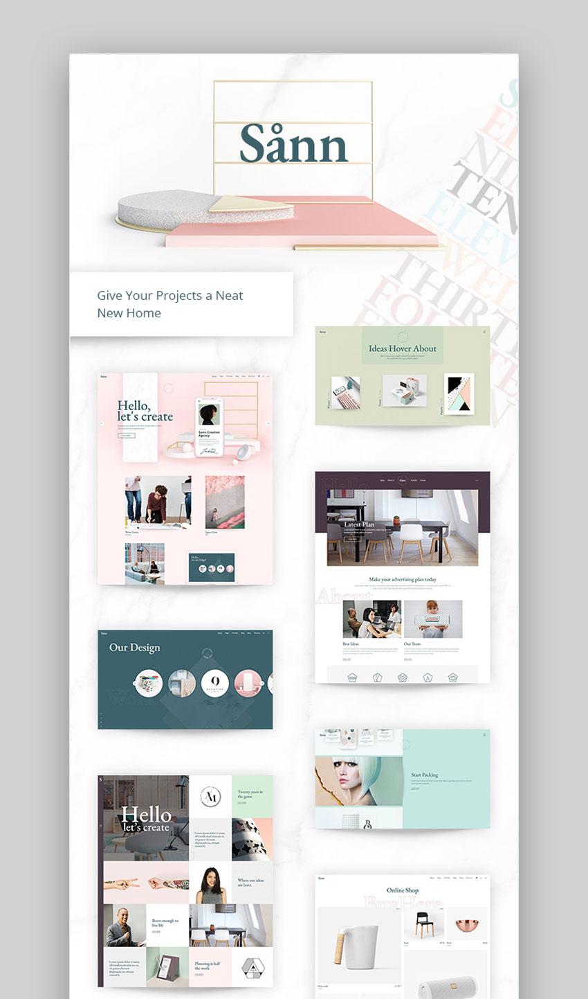 Snn - Design Portfolio Theme