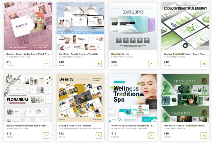 Buy beautiful PowerPoint templates one at a time from GraphicRiver