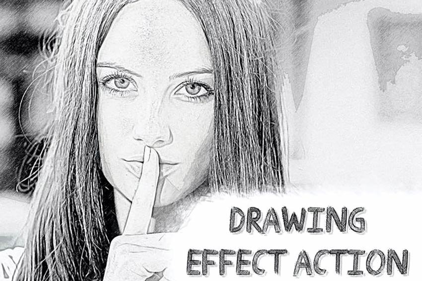 Zeichnungseffekt Photoshop-Aktion
