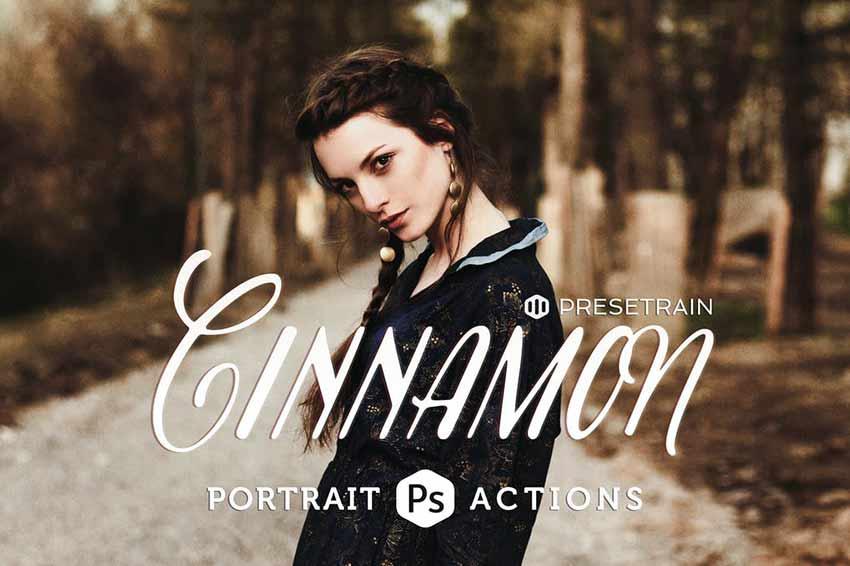 Photoshop action for portraits