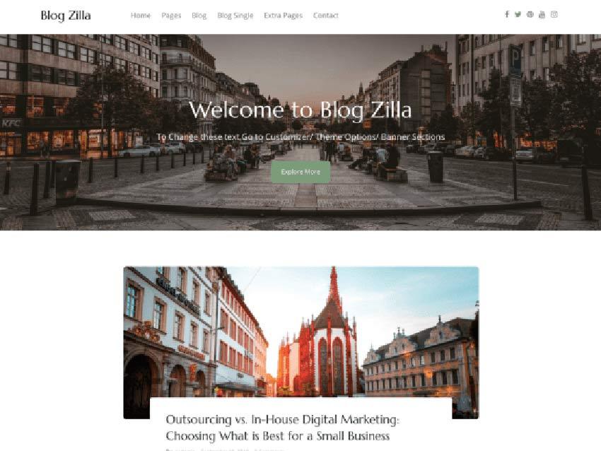 Blogzilla Free WordPress Theme