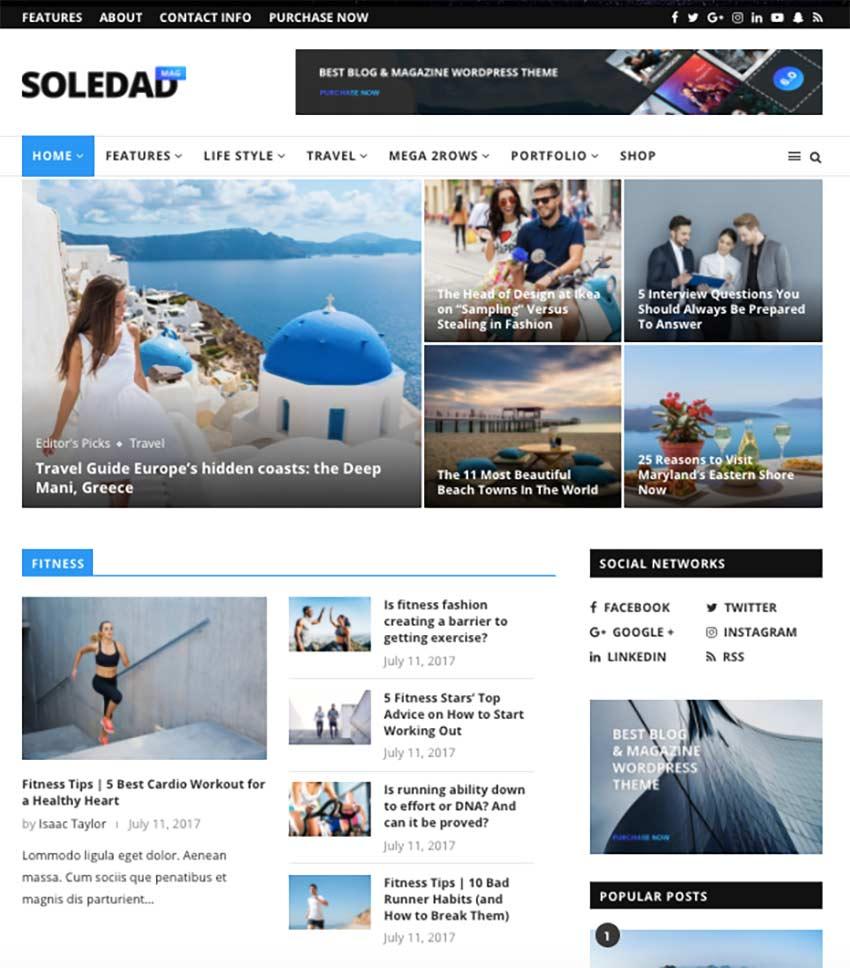 Soledad - Multi-Concept BlogMagazineNews AMP WordPress Theme