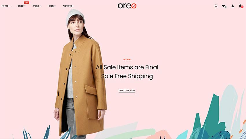 Oreo - Shopify Minimal Clean Theme