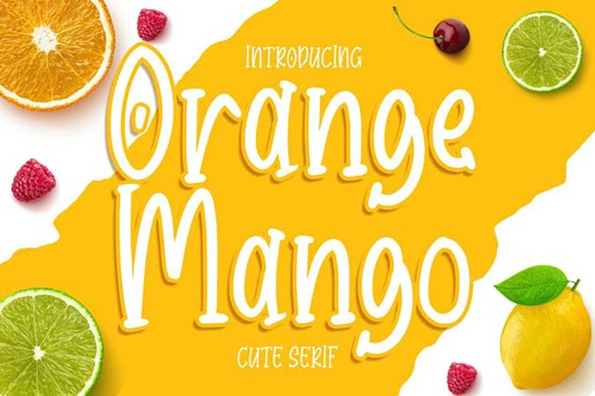 ORange Mango Cute Serif Font