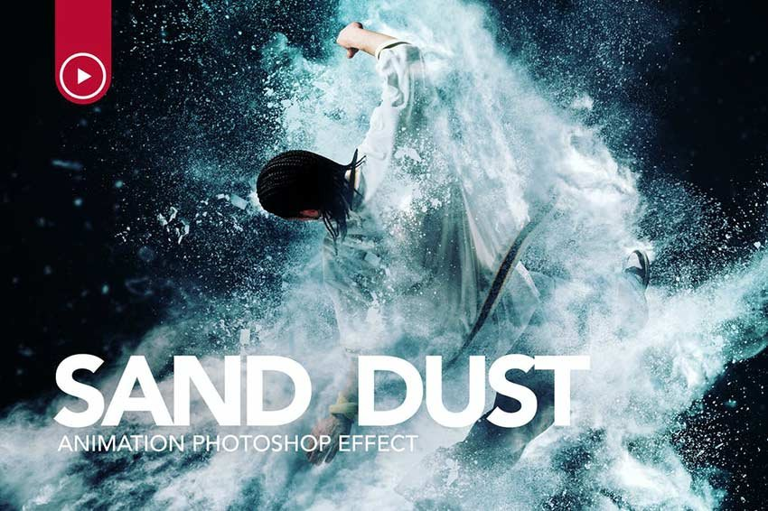 Sand Dust  Powder Explosion Photoshop Action