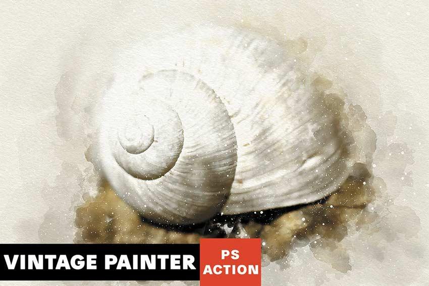 Vintage Painter Photoshop Action