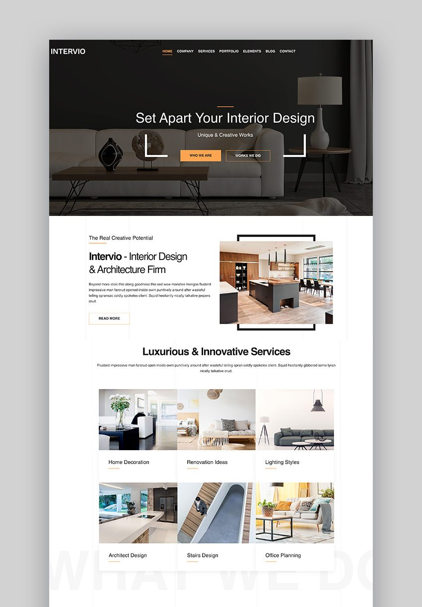 Intervio - Architecture WordPress Theme