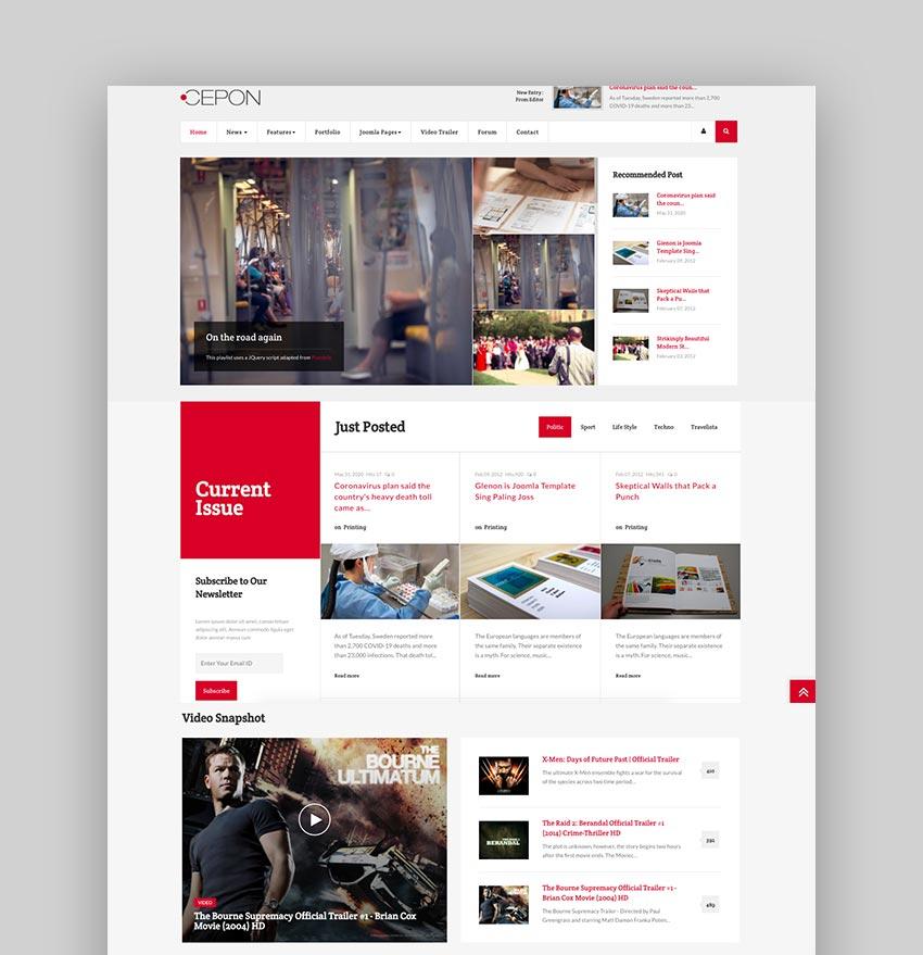 Cepon - News and Magazine Joomla Templates