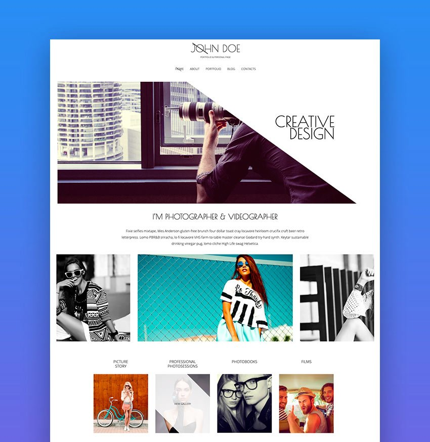 Refraction  Creative Agency and Blog Template