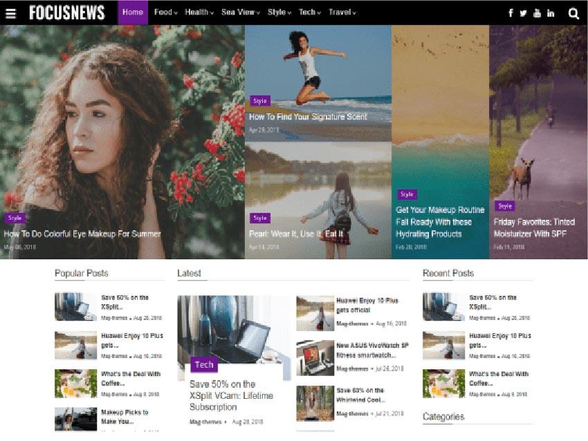 Focus Magazine Free WordPress News Theme