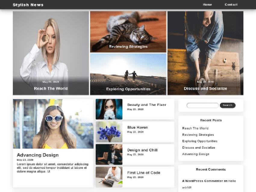 Stylish News Free WordPress News Theme