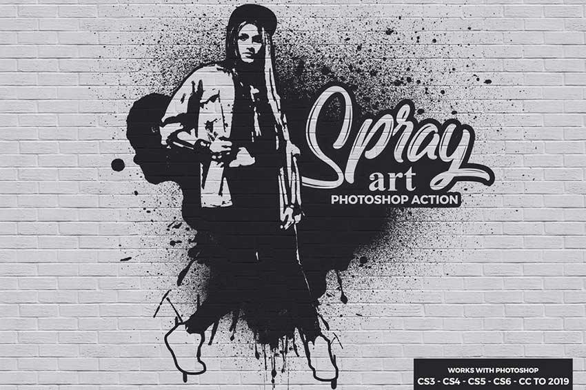 Spray Art Graffiti Logo Photoshop