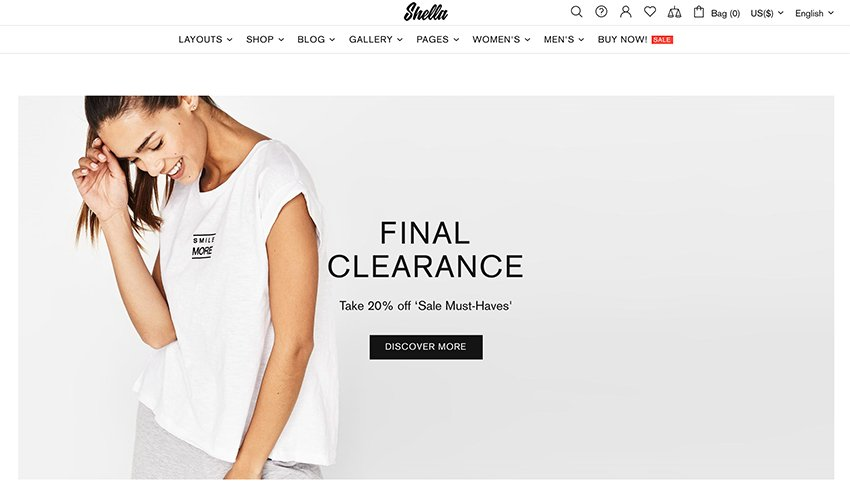 Shella is one of the best Shopify themes for eCommerce.