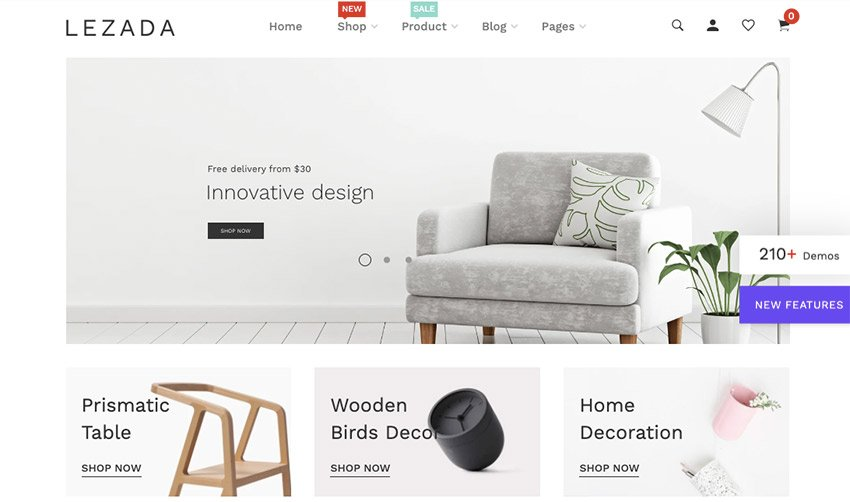 Lezada Multipurpose Best Theme for Shopify Store