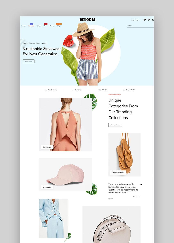 Beloria - El tema de Shopify para dropshipping más rápido