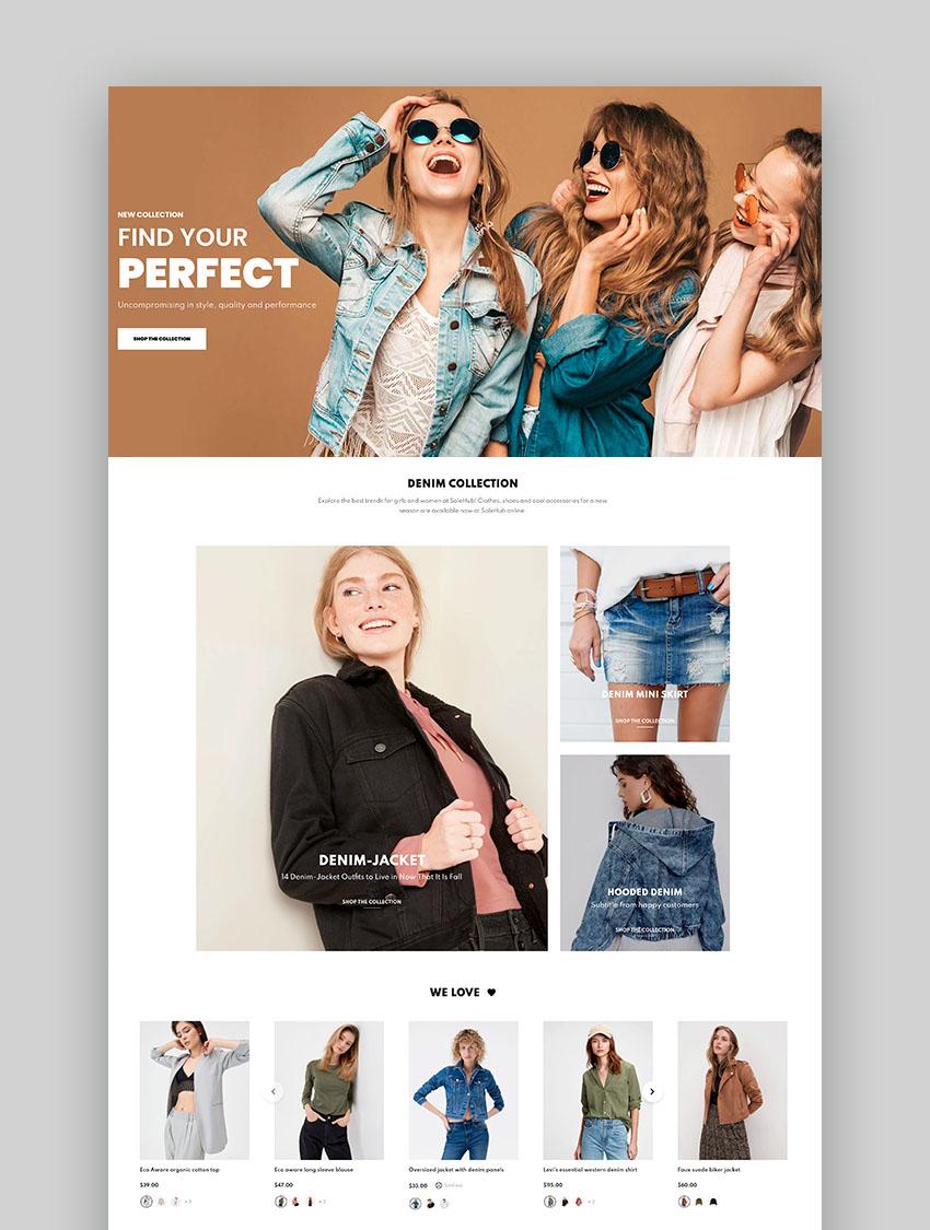 SaleHub - Clothing and Fashion Shopify Dropshipping Theme