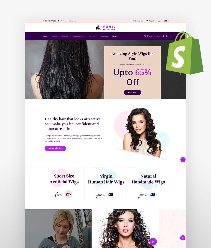 Muhil - Hair Wig Hair Extensions Shopify Theme
