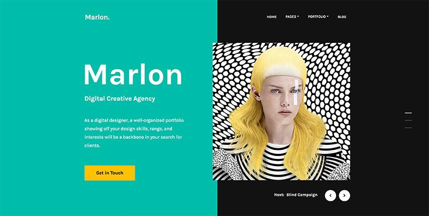 Build an eye-catching graphic design portfolio with this new portfolio WordPress theme.