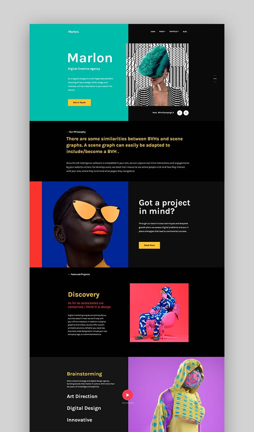 Marlon - Agency & Portfolio WordPress Theme