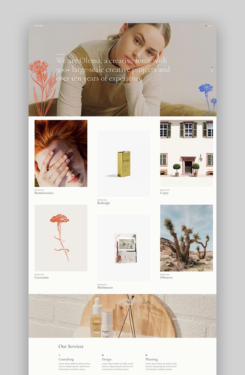 Olema - Creative Agency WordPress Theme