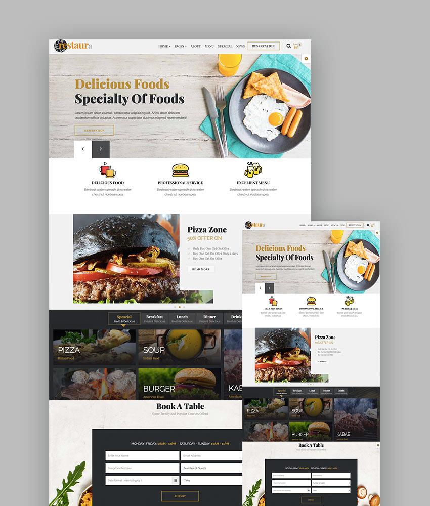 Restaura - Restaurant Menu HTML Template