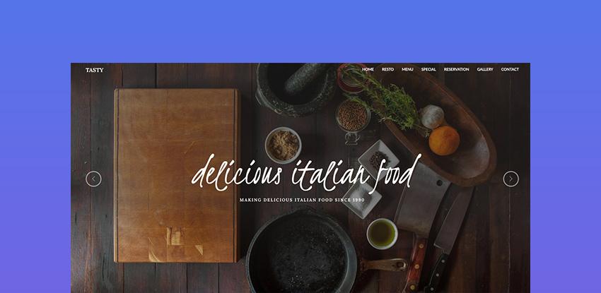 TASTY - RESTAURANT HTML TEMPLATE